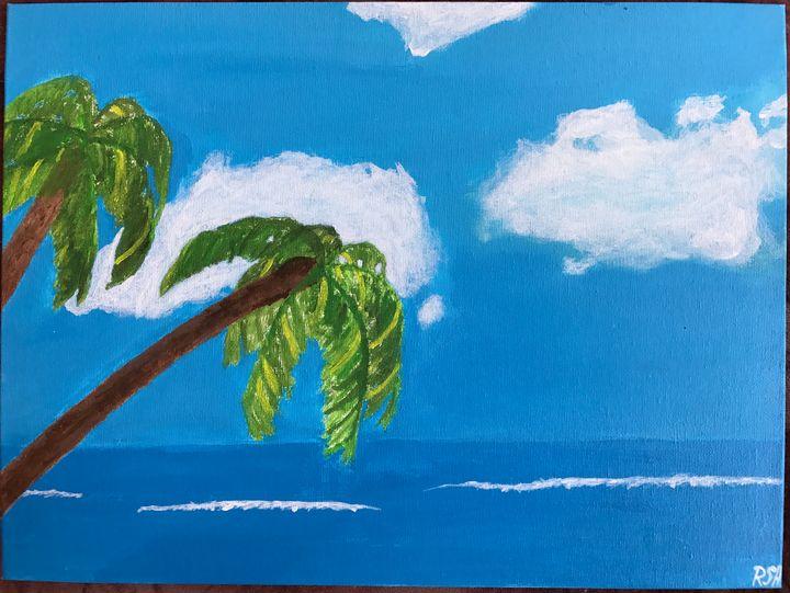 ",,Palm trees"" - Line Art"