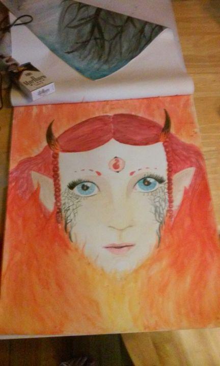 Fire fairy princess - Sparrowhawk