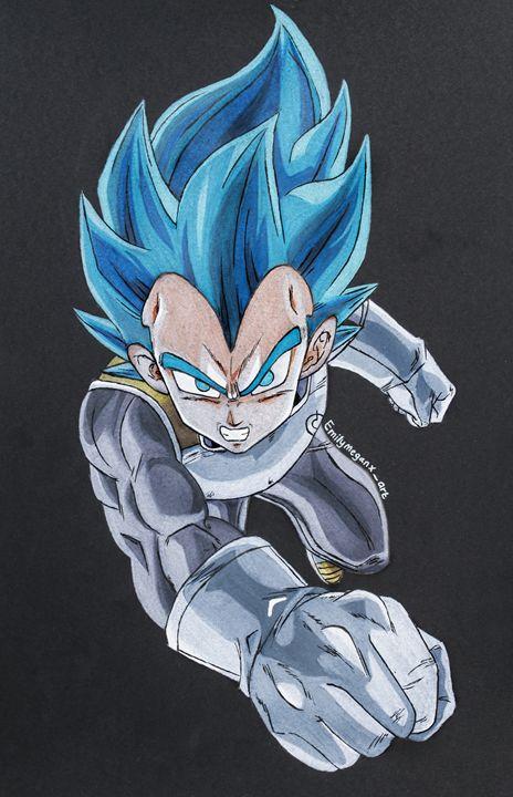 Super Saiyan Blue Vegeta - EmilyMeganXArt