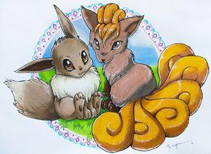Eevee & Vulpix