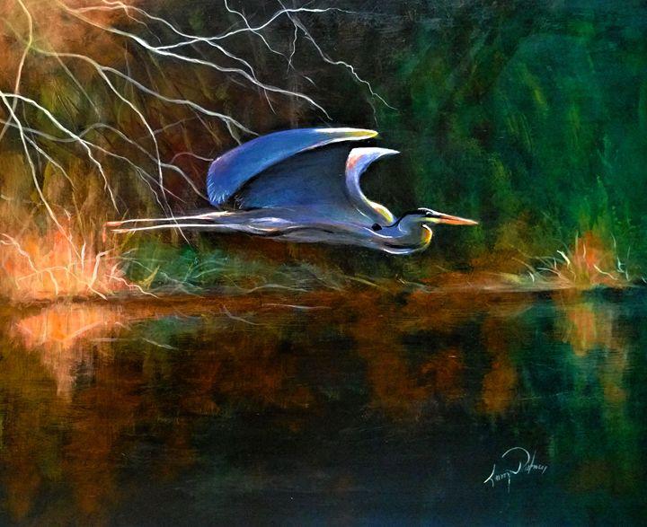 blue heron,  picture taken yesterd - l&l art
