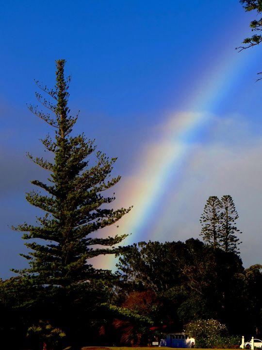 Rainbow Ladder in Blue Sky - LuckyPhotos