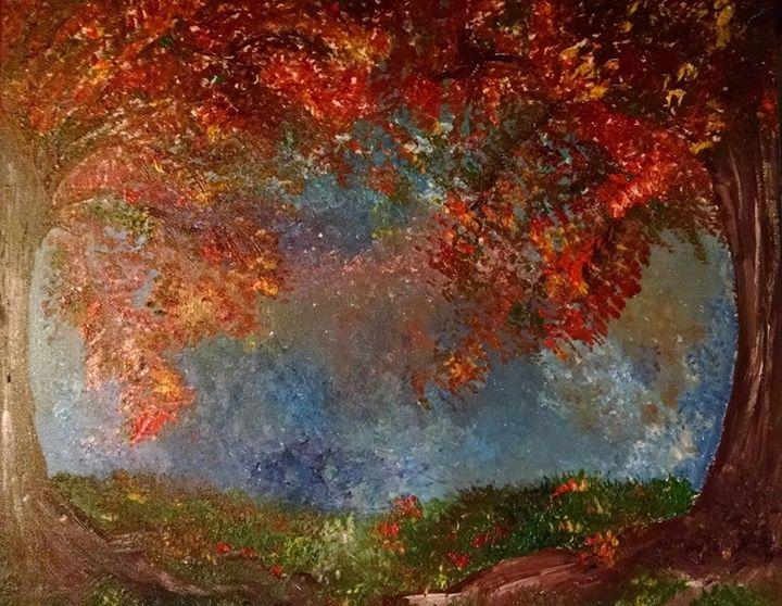 Fall Oaks - Jessica's Art World