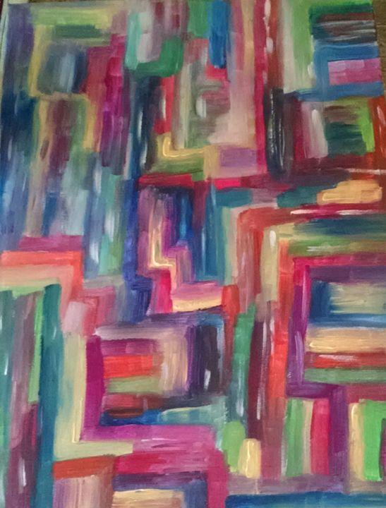 streams of color - Jessica's Art World