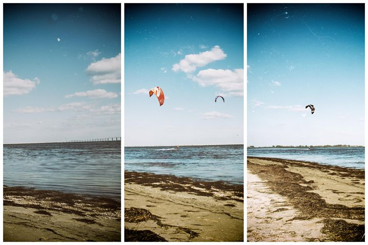 Cold day Kite Boarding... - Michael O'Leary