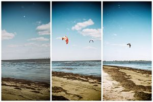 Cold day Kite Boarding...