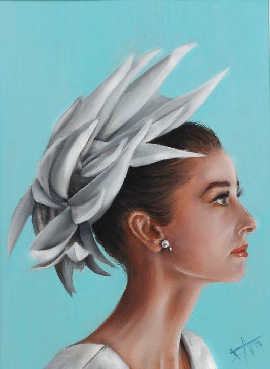 Audrey Hepburn Original oil painting - SAMARTISAN