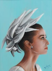 Audrey Hepburn Original oil painting