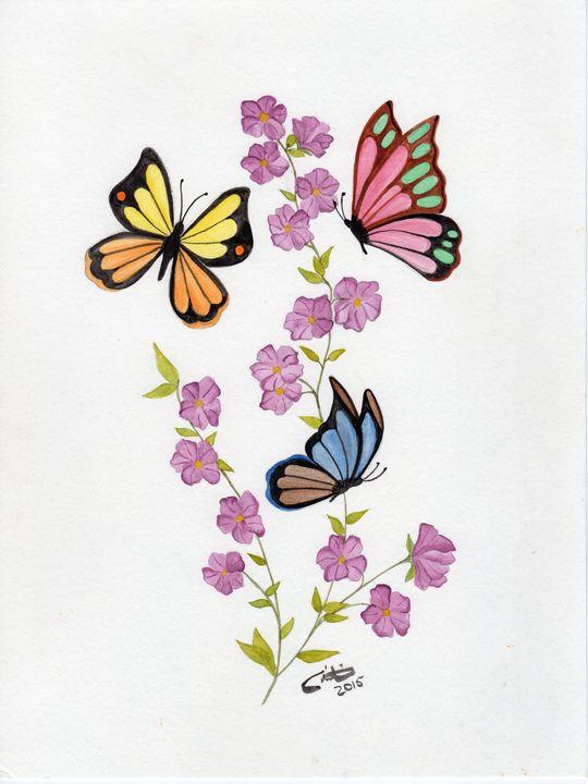 Dancing Butterflies - CD Art