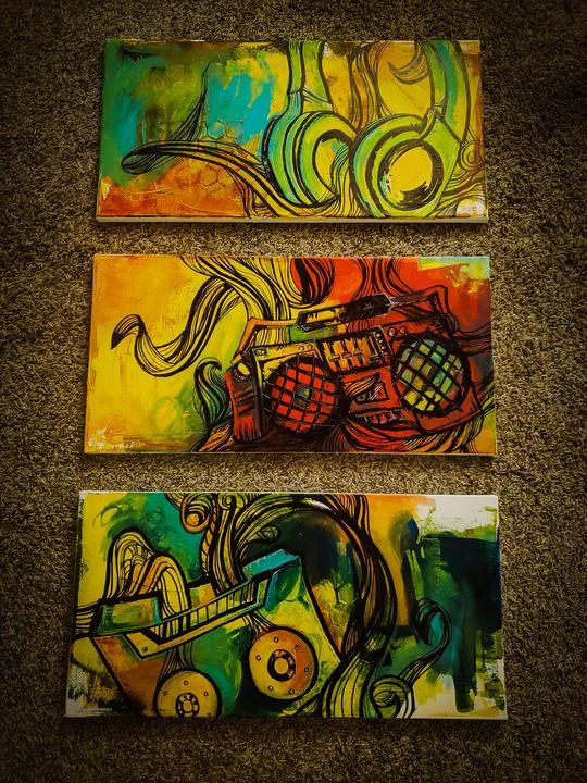 Hiphop Paintings - Urbanskilled