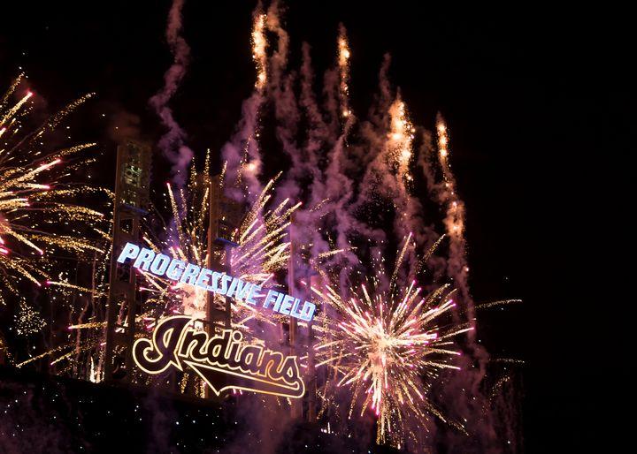 Cleveland Indians Fireworks - Crazy Woman Art