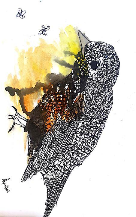 Zentangle bird - Starlet Art