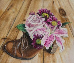 Shoe of Flowers