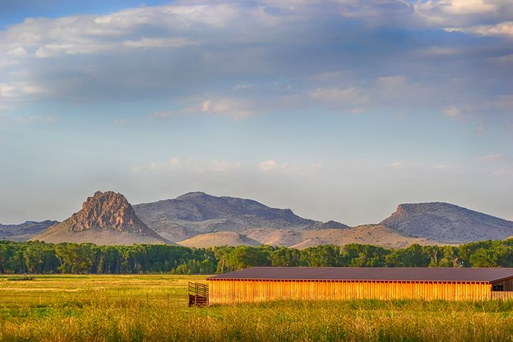 Barn and Indian Head Peak Del Norte, - John McEvoy Photographer