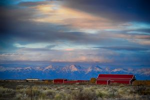 Sangre de Cristos and Red Barn