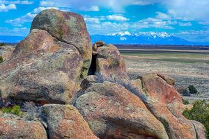 Elephant Rocks and Sangre de Cristos
