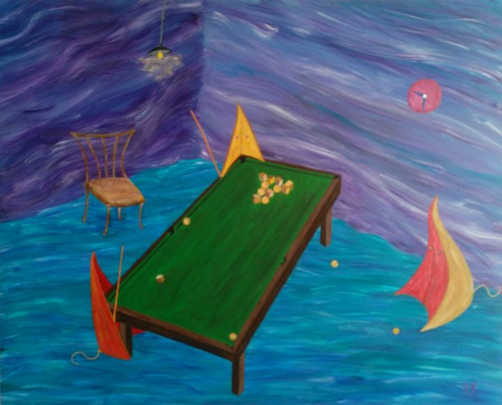 Billiards at half past nine - Chkotoua Gallery