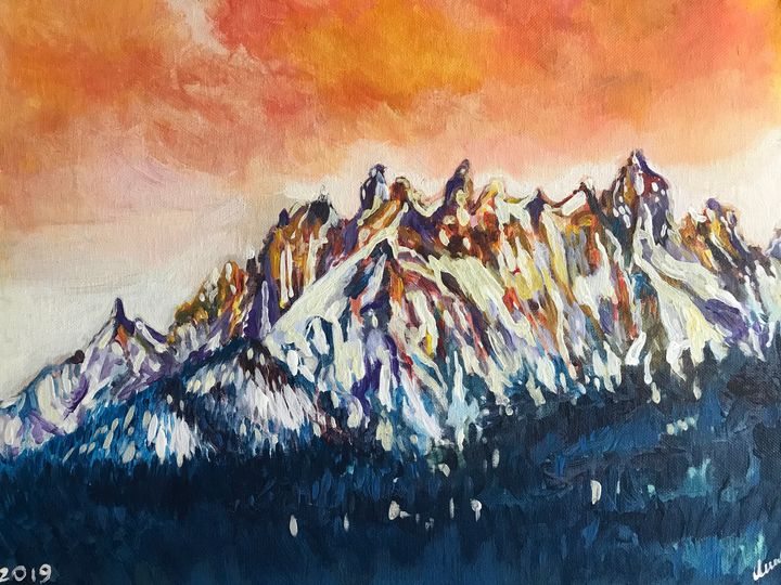 Idaho Mountains - Betesda Art Gallery