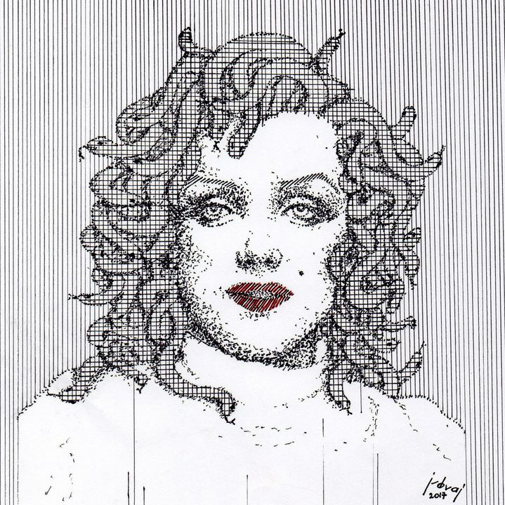 Marilyn Monroe Medusa - Art_By_Yedvay