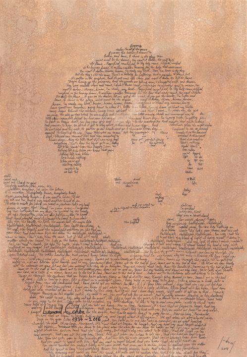 Leonard Cohen - Art_By_Yedvay