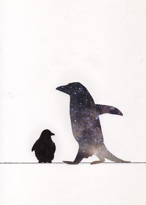 Cosmic Penguin - Art_By_Yedvay