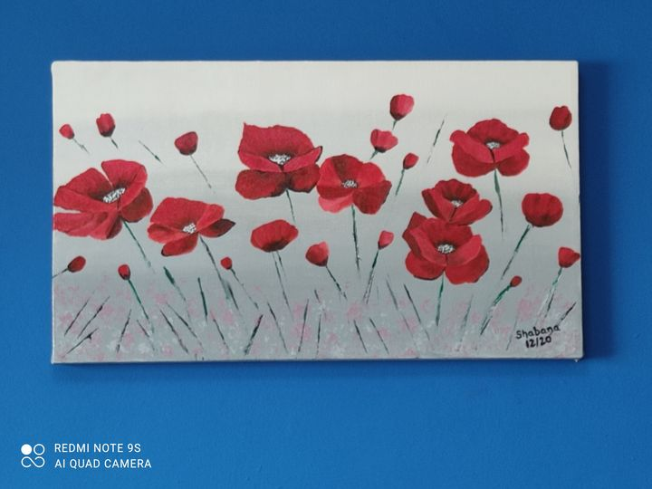 Red poppies - Art by Shabana