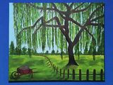 Original willow tree acrylic paintin