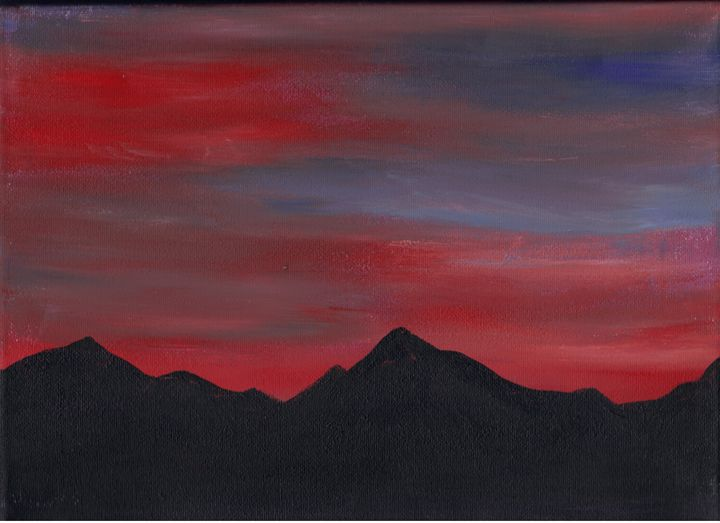 Rocky Mountain Sundown - Paintings by Michelle