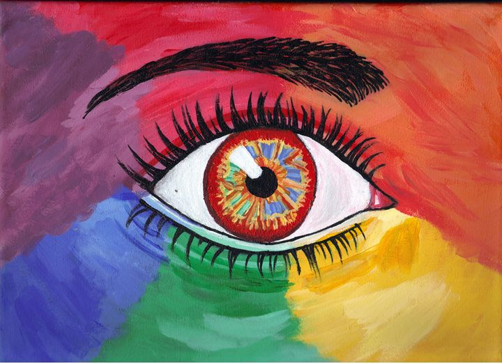 Colorful Eye - Paintings by Michelle
