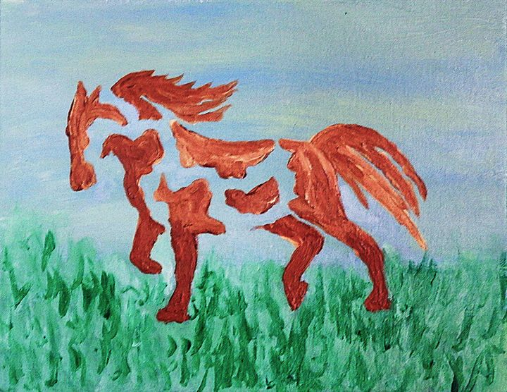 Konja A Horse Painted - Rybird