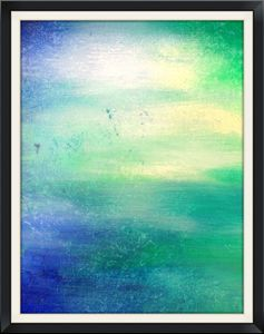 Abstract Blue and Green - 8x10
