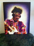 Oil painting of Jimi Hendrix
