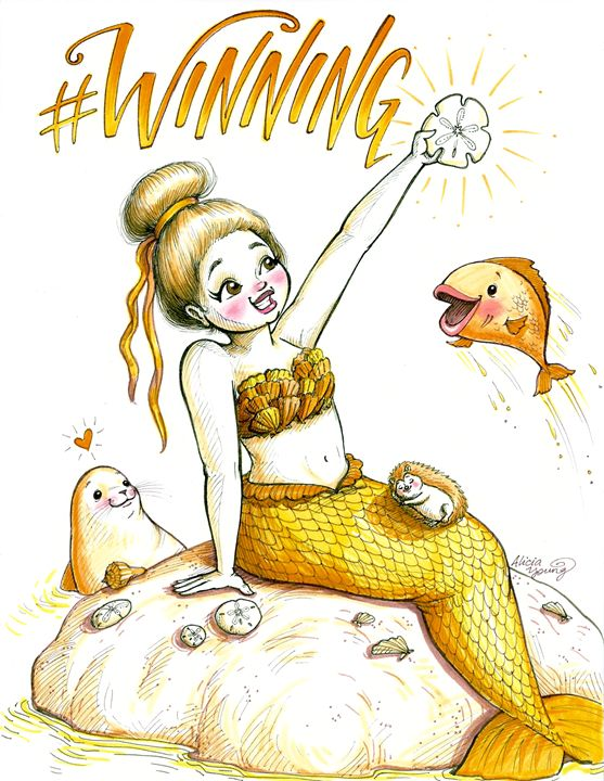 #WINNING - Art by Alicia Renee