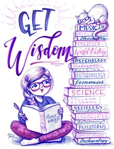 Get Wisdom - Art by Alicia Renee