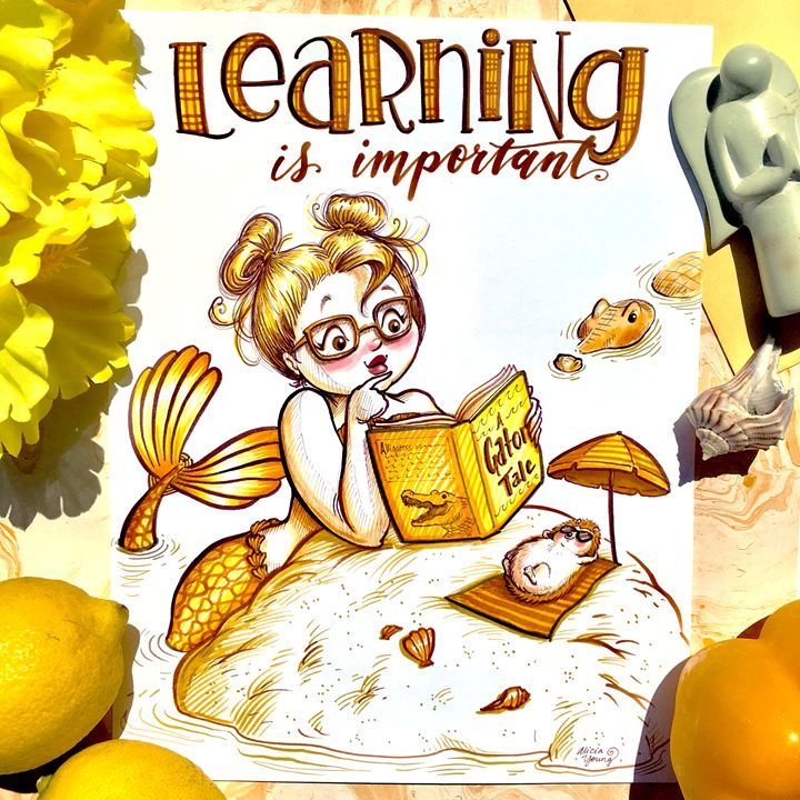 Learning is Important!Yellow staging - Alicia Young Art