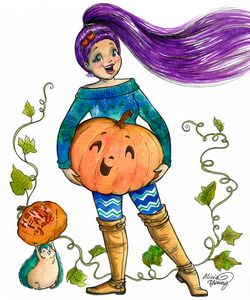 Happy Fall, Y'all! - Art by Alicia Renee