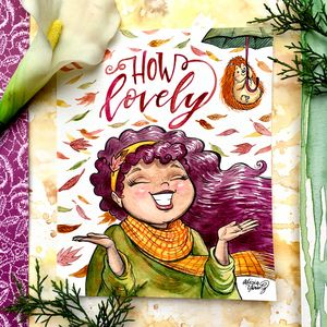 How lovely, with fun fall staging - Art by Alicia Renee