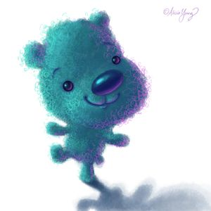Blue Bear - Art by Alicia Renee