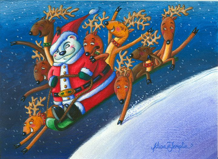 Reindeer Games - Alicia Young Art