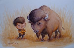 Buffalo Boys - Alicia Young Art