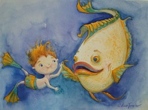 Freshwater Friends - Art by Alicia Renee