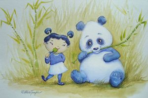 Panda Pals - Art by Alicia Renee