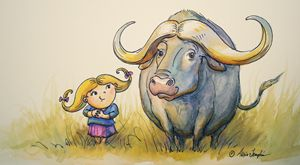 Water Buffalo Buddies - Art by Alicia Renee