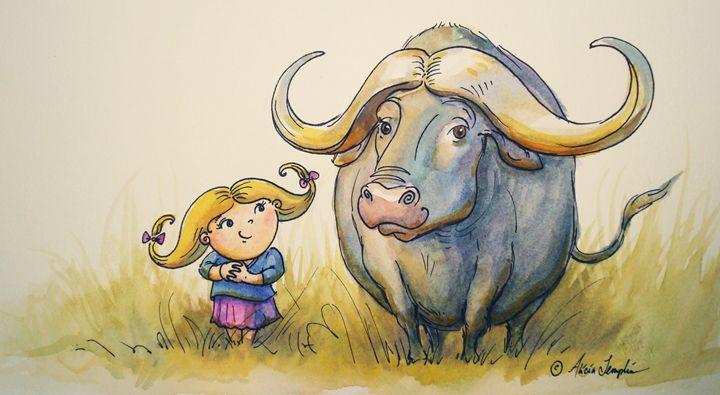 Water Buffalo Buddies - Art by Alicia Renee