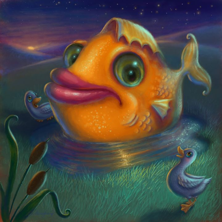 Big Fish, Small Pond - Alicia Young Art