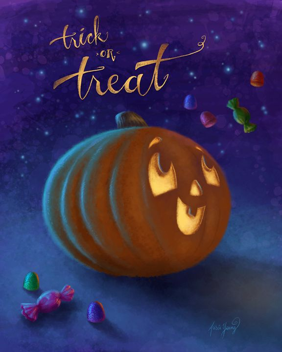 Trick or Treat! - Art by Alicia Renee