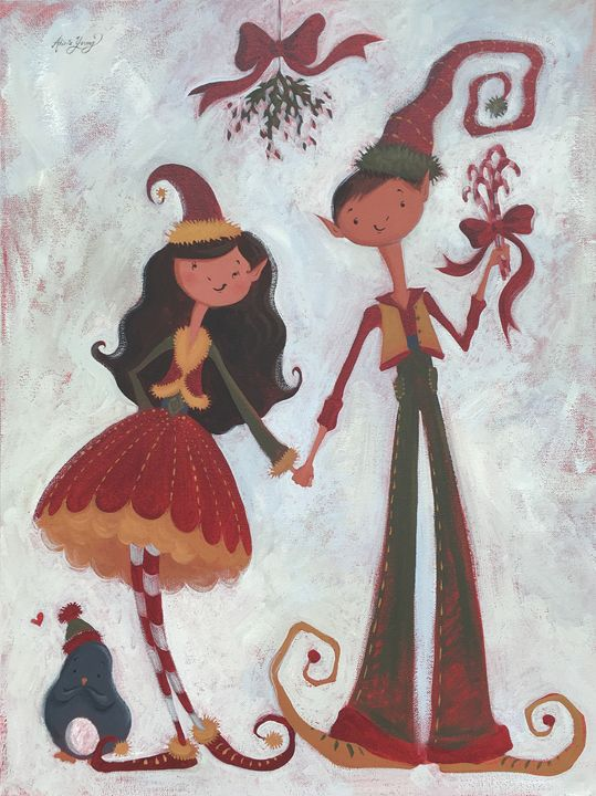 Mistletoe! - Alicia Young Art