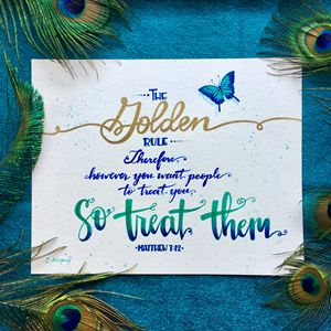 The Golden Rule Feathers - Alicia Young Art