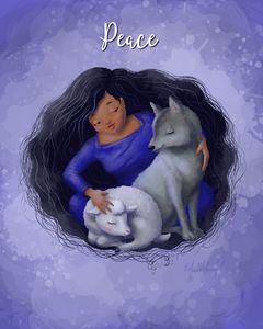 Peace (with added title) - Art by Alicia Renee