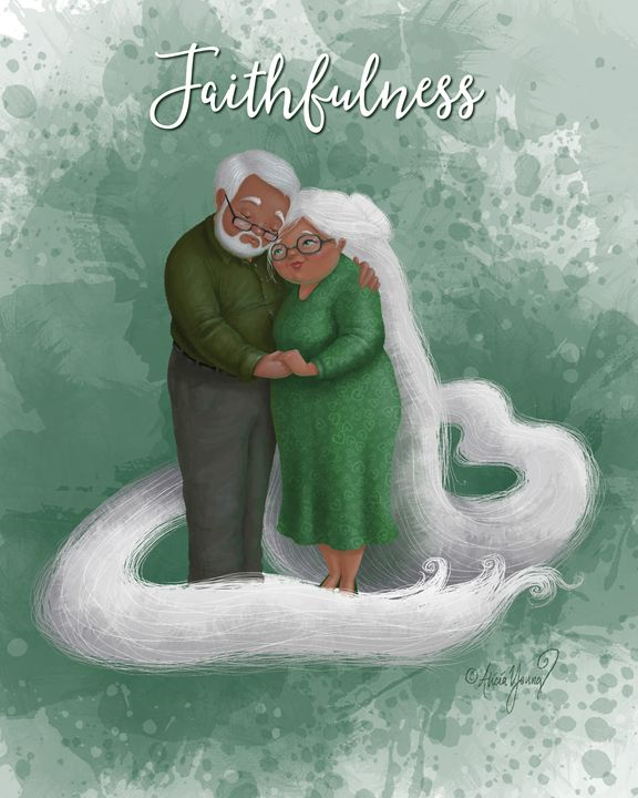 Faithfulness (with added title) - Art by Alicia Renee